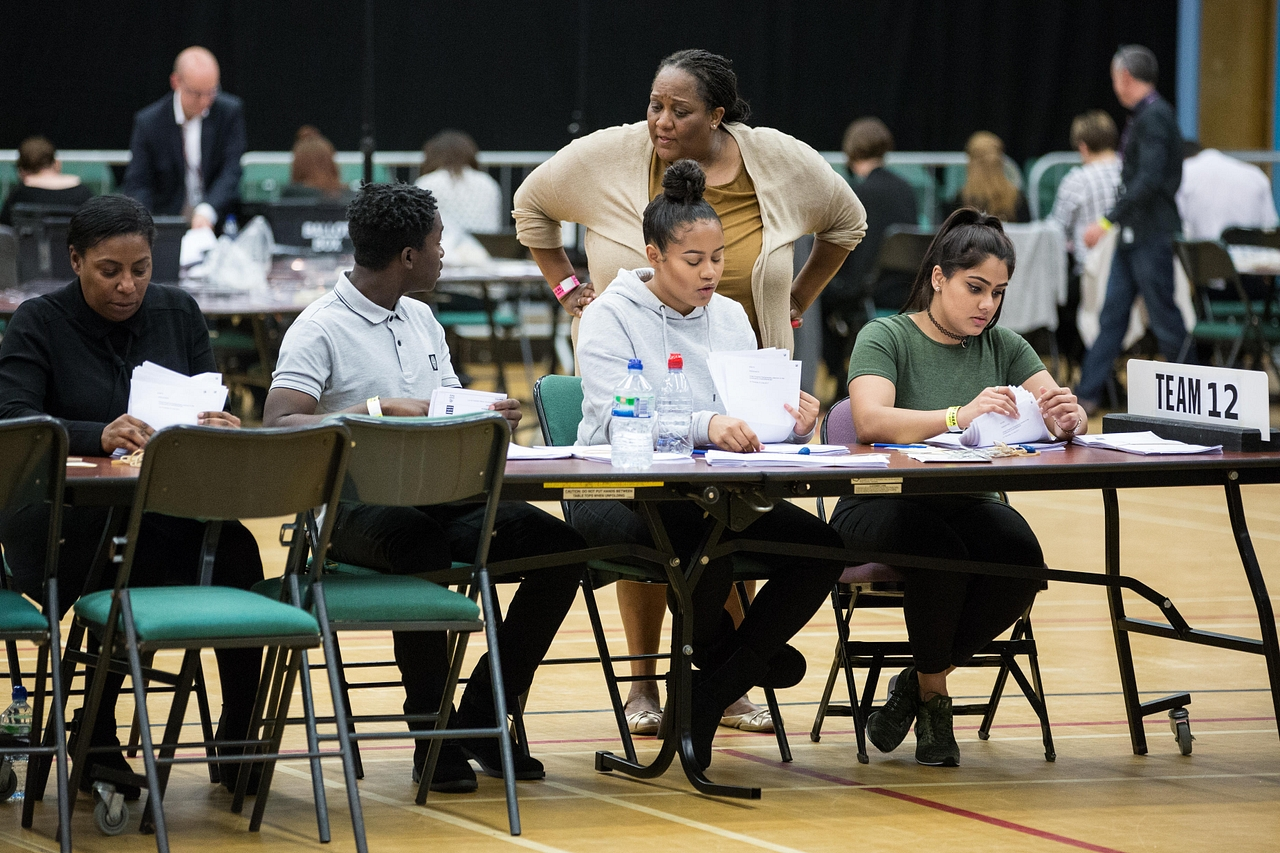 Counting begins in Prime Minister Theresa May's Maidenhead constituency on 8 June 2017