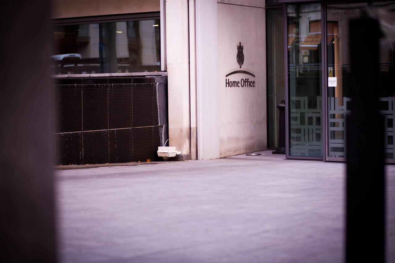 A photograph of the front of the Home Office building in Westminster